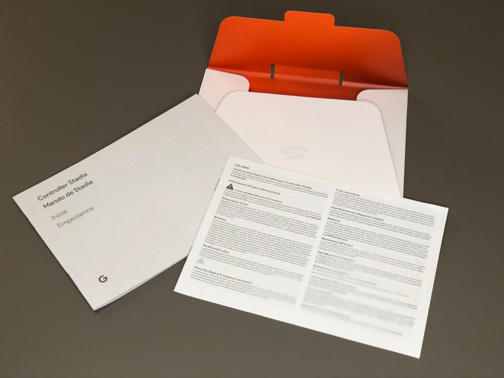 Google Stadia what's in the box